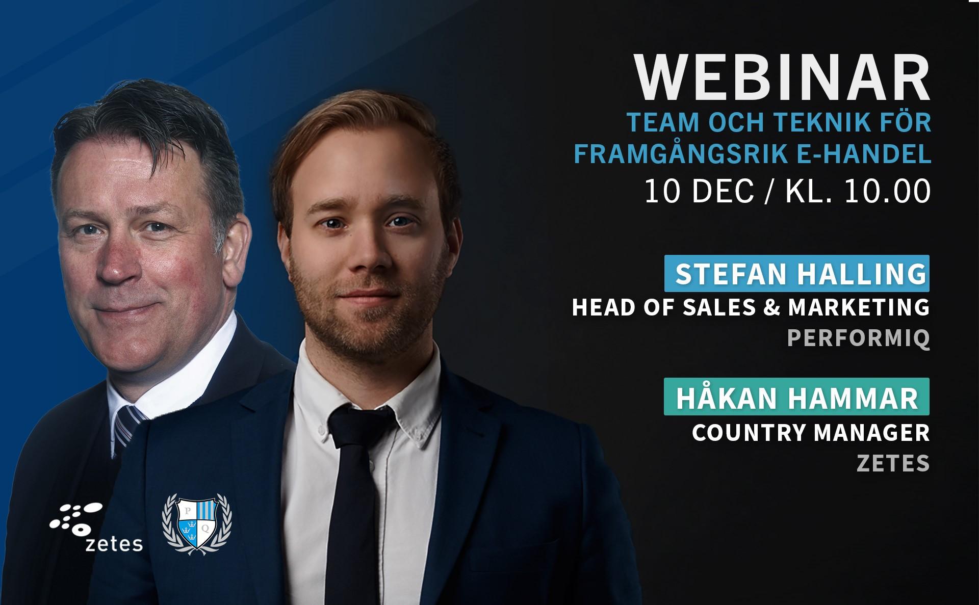 Webinar team och teknik inom e-handel